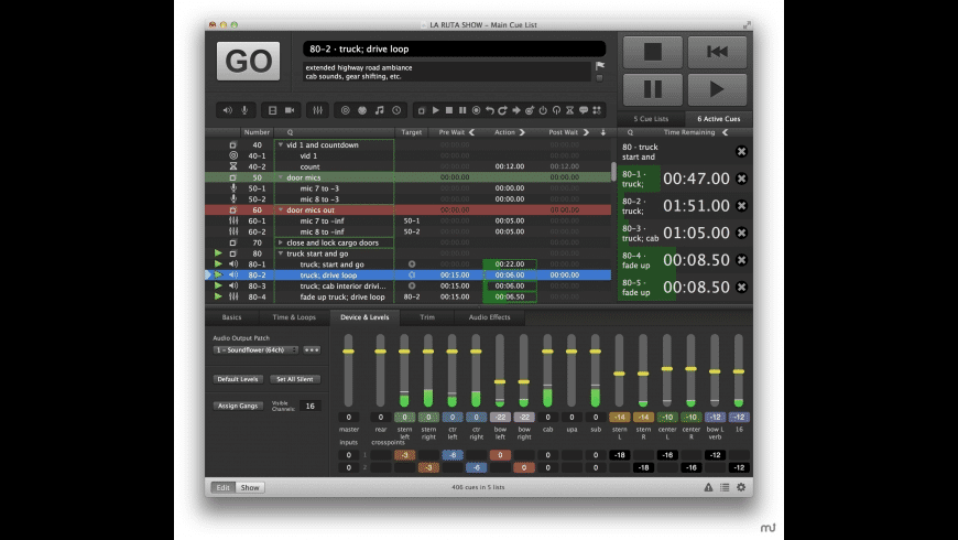 QLab for Mac - review, screenshots