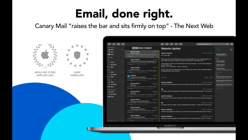 Canary Mail for Mac - review, screenshots