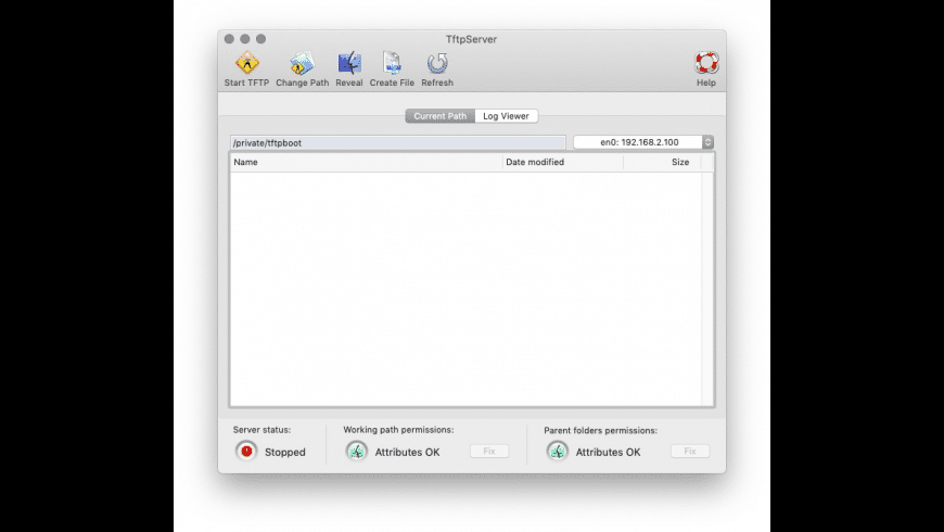 TftpServer for Mac - review, screenshots