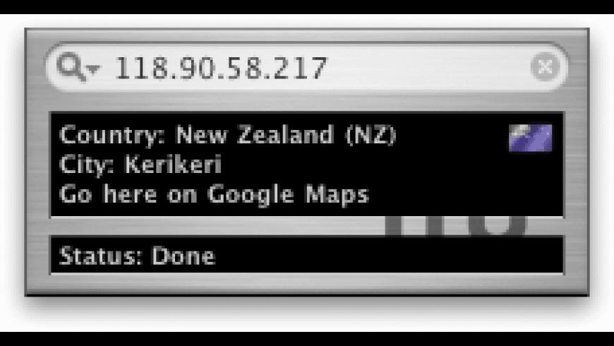 IP Locator for Mac - review, screenshots