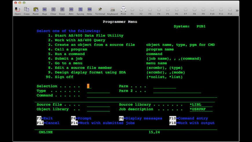 TN5250 for Mac - review, screenshots