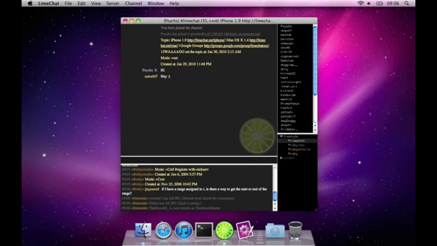 LimeChat for Mac - review, screenshots