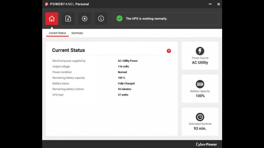 CyberPower PowerPanel Personal for Mac - review, screenshots