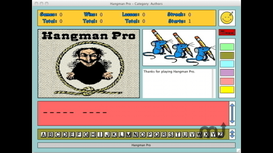 Hangman Pro for Mac - review, screenshots