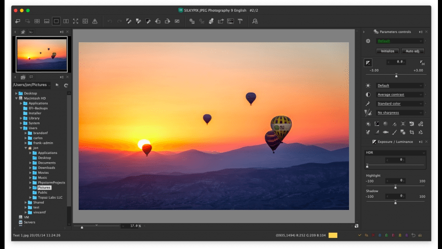 SILKYPIX JPEG Photography for Mac - review, screenshots