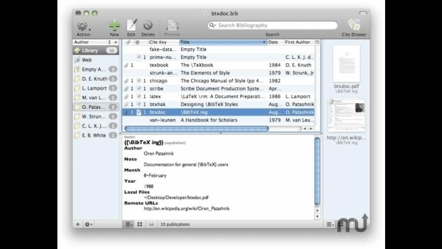 BibDesk for Mac - review, screenshots