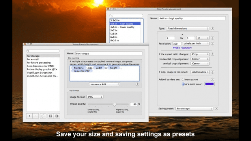 Resize Sense for Mac - review, screenshots