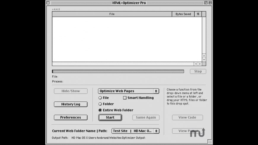 HTML-Optimizer Pro for Mac - review, screenshots