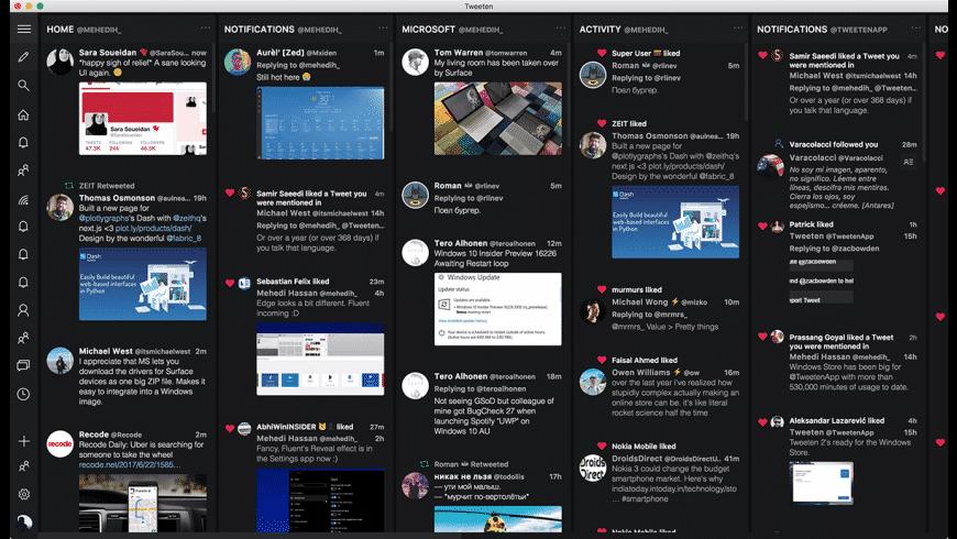 Tweeten for Mac - review, screenshots