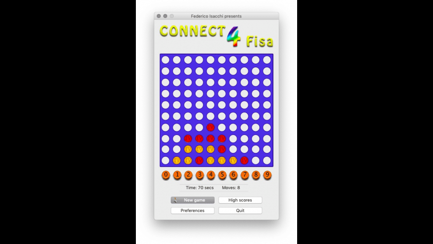 Connect4 Fisa for Mac - review, screenshots