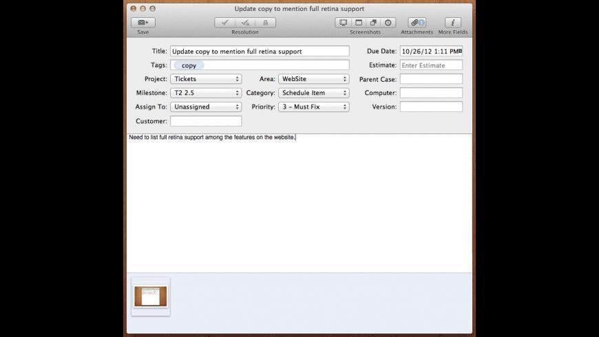 Tickets for Mac - review, screenshots