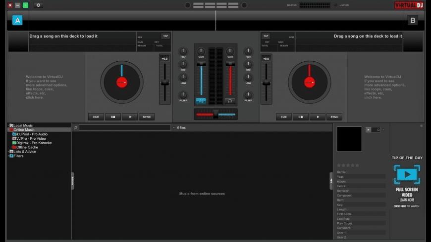 VirtualDJ for Mac - review, screenshots