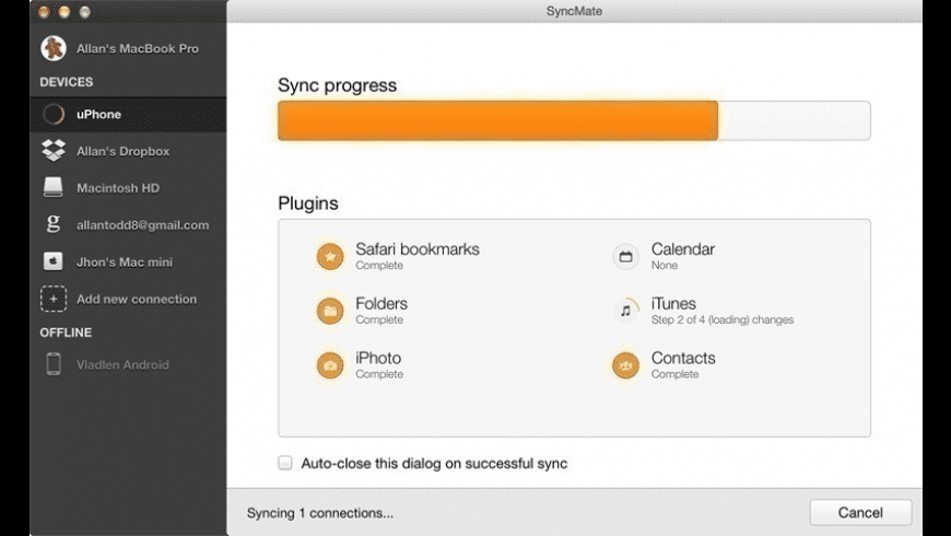 SyncMate for Mac - review, screenshots