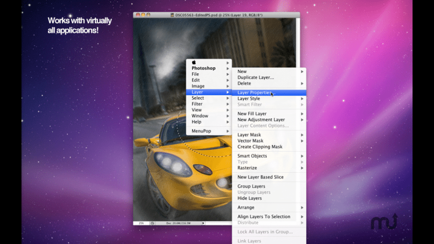 MenuPop for Mac - review, screenshots