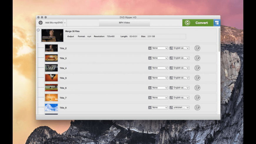 DVD Ripper HD for Mac - review, screenshots