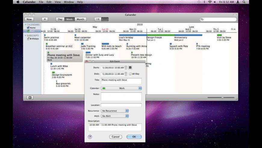 Caliander for Mac - review, screenshots