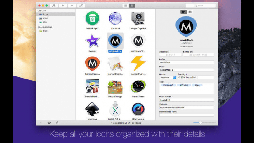 InerziaIcon Lite for Mac - review, screenshots
