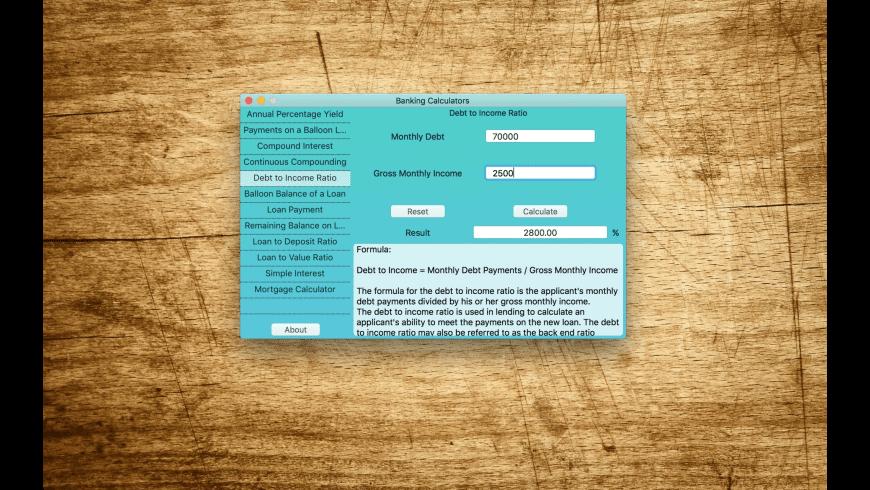 Banking Calculators for Mac - review, screenshots