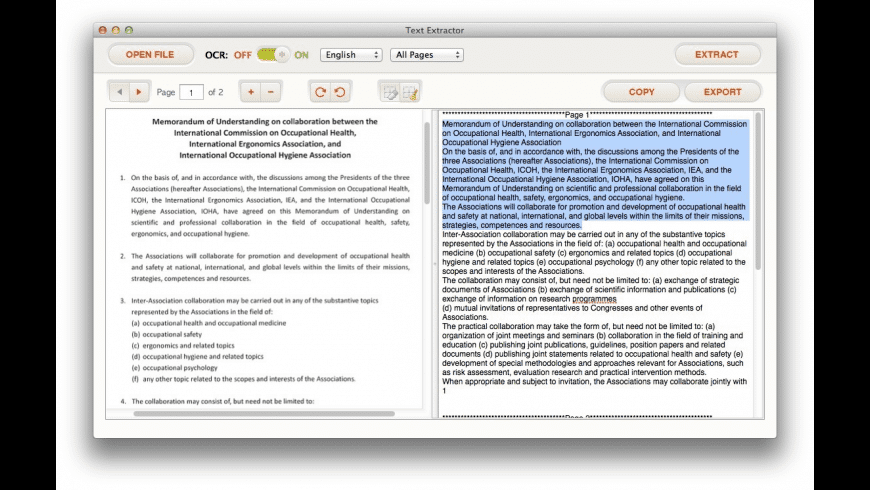 Text Extractor for Mac - review, screenshots