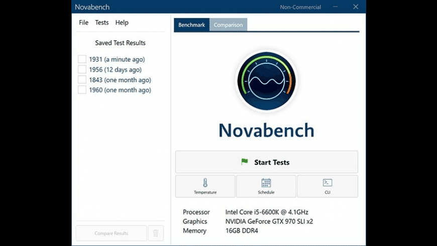 Novabench for Mac - review, screenshots