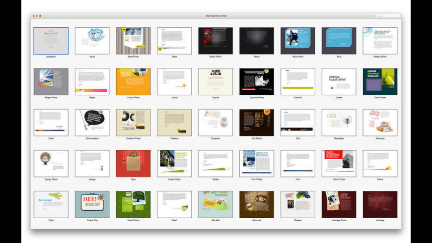 Mail Stationery for Mac - review, screenshots