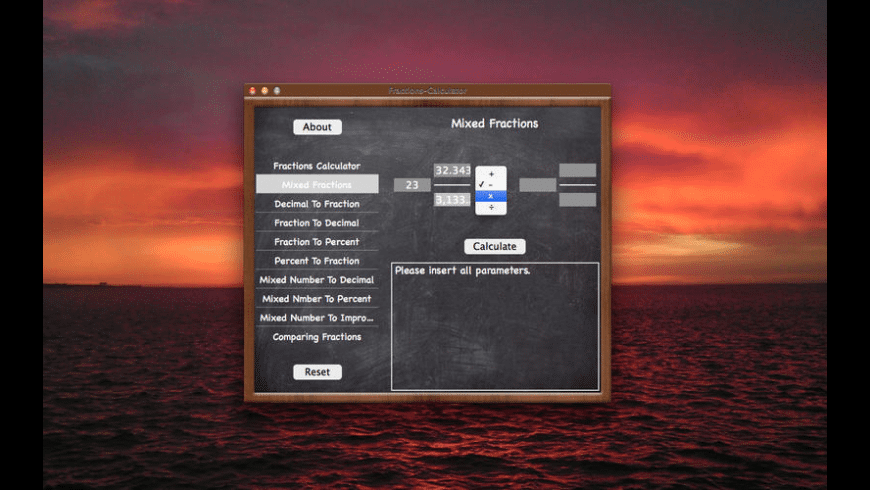 Fractions-Calculator for Mac - review, screenshots