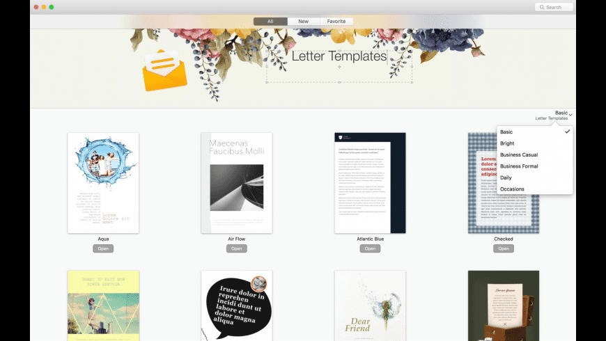 GN Letter Templates for Pages for Mac - review, screenshots