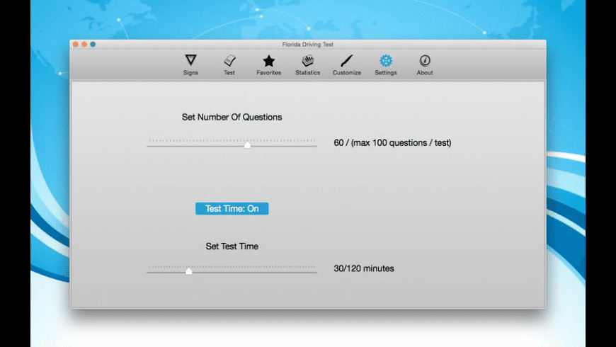 Florida Driving Test for Mac - review, screenshots