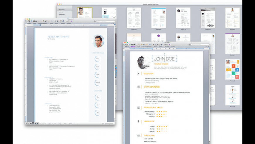 Resume & CV Expert for Mac - review, screenshots