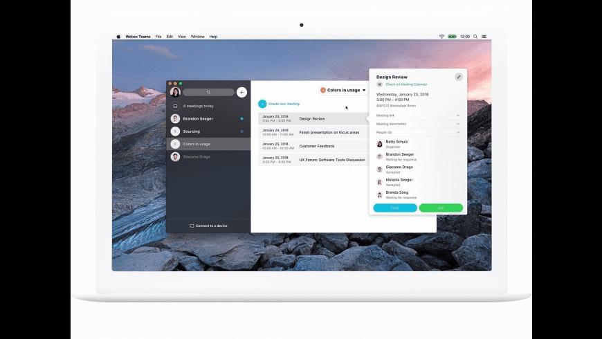 Webex Teams for Mac - review, screenshots