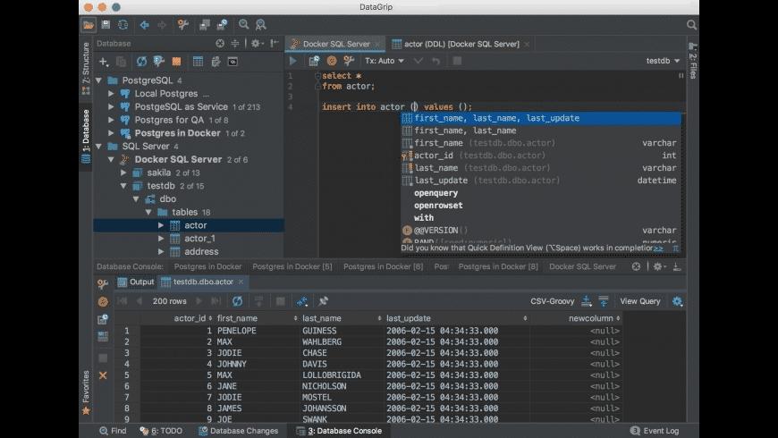 DataGrip for Mac - review, screenshots