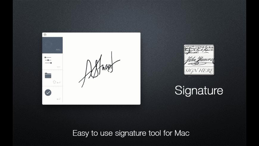Signature for Mac - review, screenshots