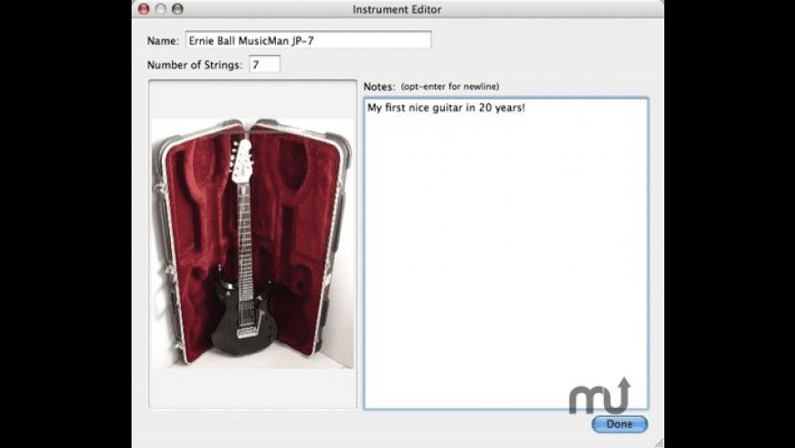 GuitarLog for Mac - review, screenshots