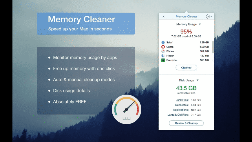 Memory Cleaner for Mac - review, screenshots