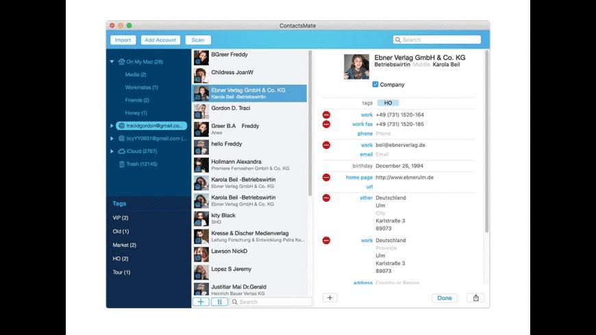 Cisdem ContactsMate for Mac - review, screenshots
