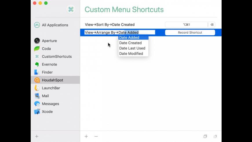 CustomShortcuts for Mac - review, screenshots