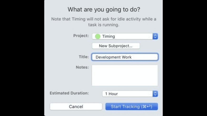 Timing for Mac - review, screenshots