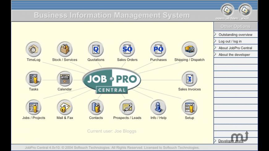 JobPro Central for Mac - review, screenshots