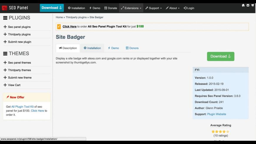 Bitnami SEO Panel for Mac - review, screenshots