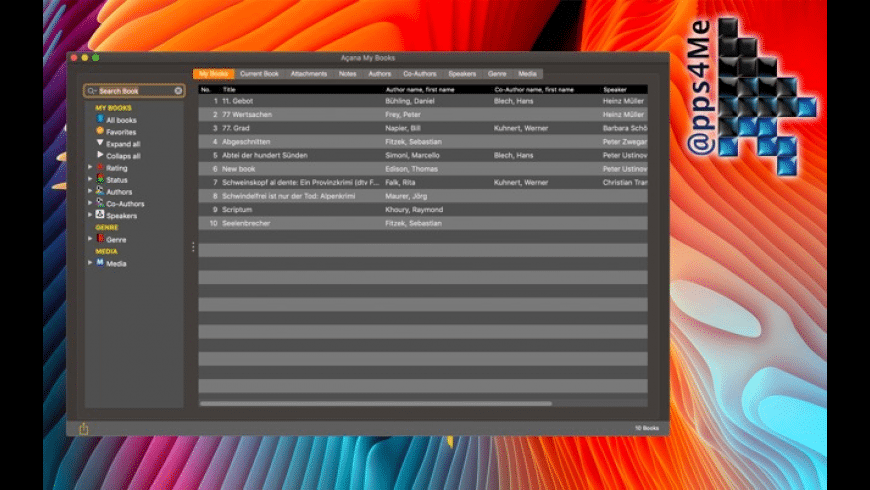 Acana My Books for Mac - review, screenshots