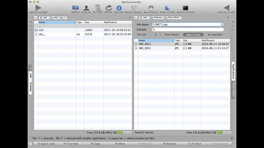 MacCommander for Mac - review, screenshots