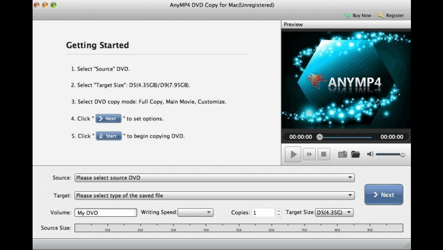 AnyMP4 DVD Copy for Mac - review, screenshots