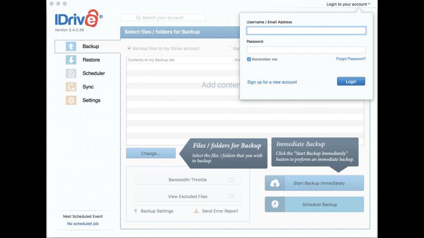 iDrive for Mac - review, screenshots