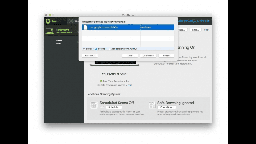 VirusBarrier X9 for Mac - review, screenshots