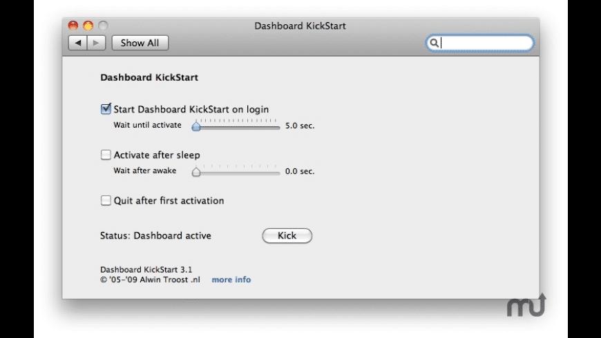 Dashboard KickStart for Mac - review, screenshots