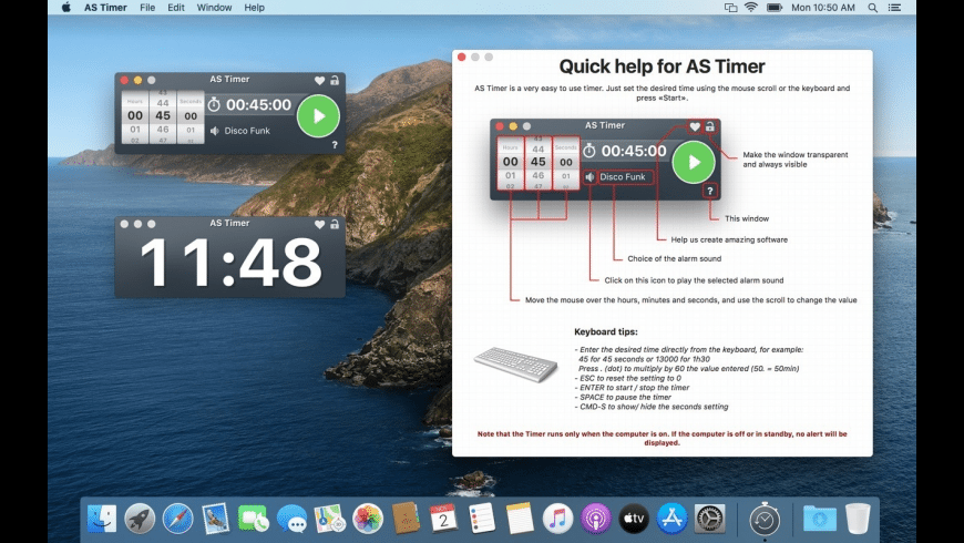 AS Timer for Mac - review, screenshots
