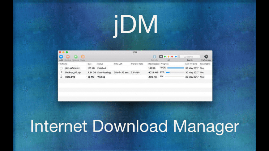 jDM for Mac - review, screenshots