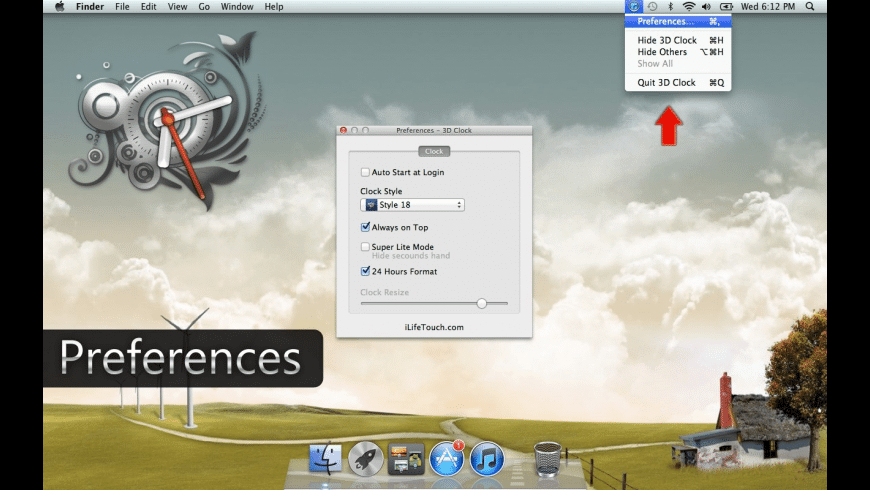 3D Clock for Mac - review, screenshots