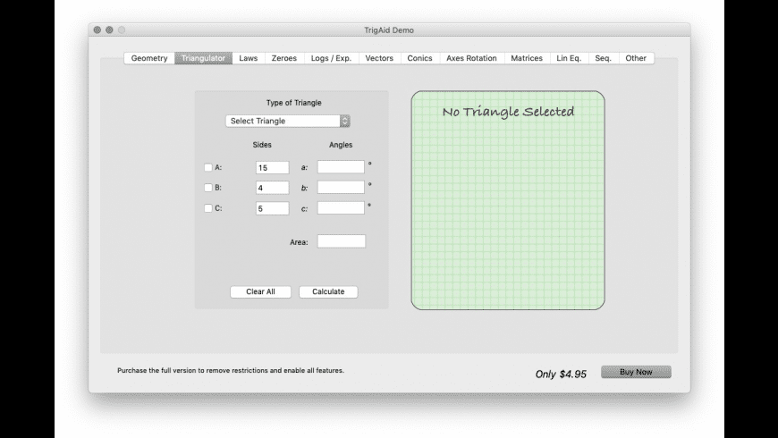 TrigAid for Mac - review, screenshots