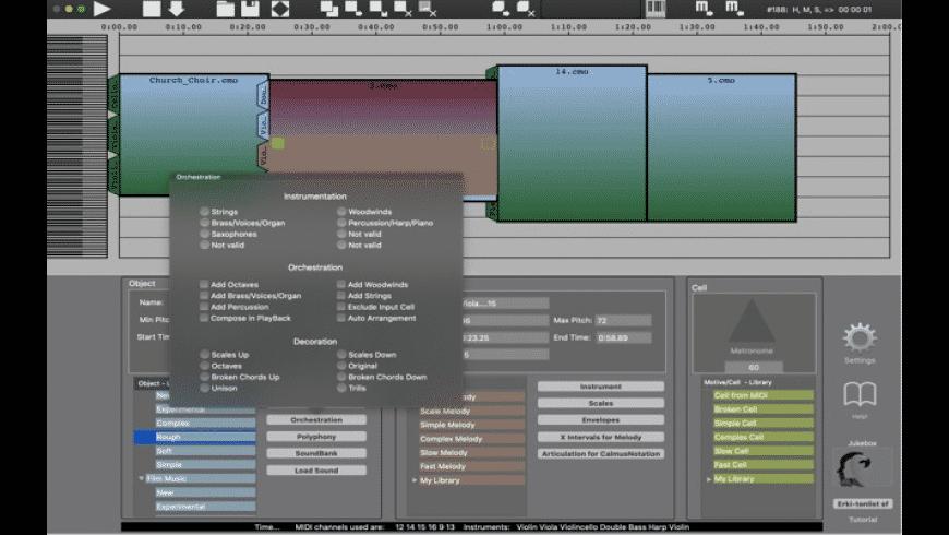 CalmusComposer for Mac - review, screenshots